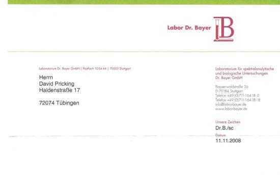 Laboratorium von Labor Dr. Bayer