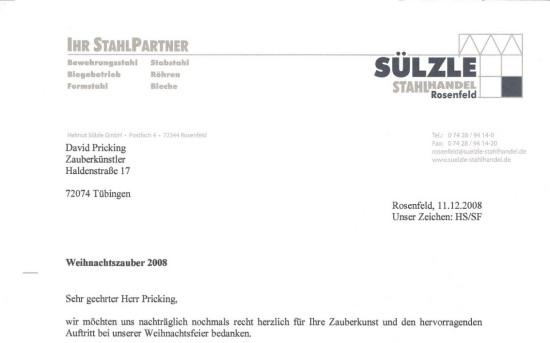 Helmut Sülzle GmbH Weihnachtszauber 2008