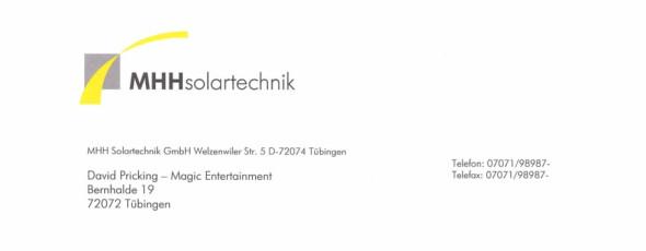 Messe-Zauberei bei MHH Solartechnik GmbH