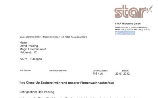 Weihnachtsfeier 2012 Star Micronics GmbH
