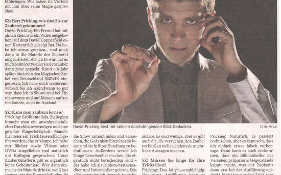 Interview mit Mentalist David Pricking