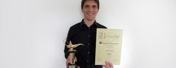 Zauberer David Pricking siegt in Österreich